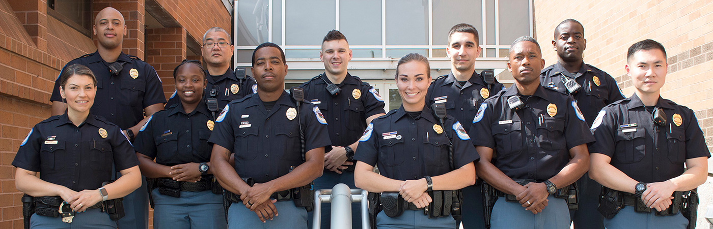 Cobb County Police Department Officers at police headquarters