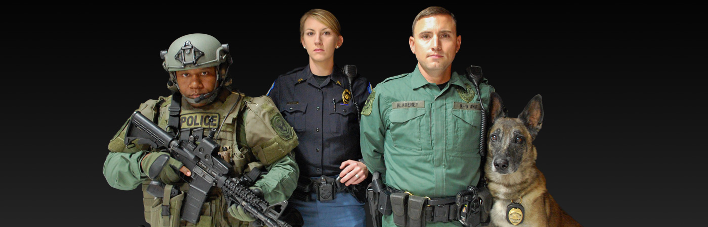Officers from different units